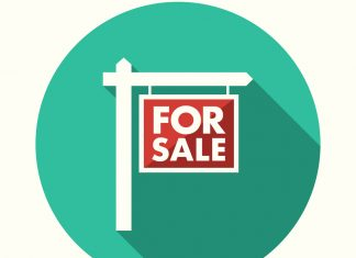 Flat Design For Sale Icon with Side Shadow