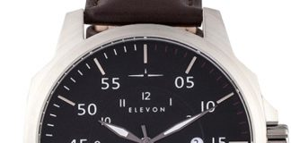 Elevon Hughes Collection Leather Watch