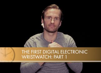 digital electronic wristwatch
