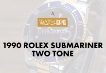 1990 rolex submariner two tone