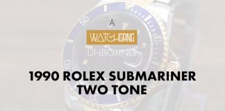 1990 rolex submariner two tone